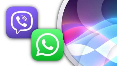 Поддержка Siri viber и whatsapp
